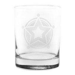 Rolf Glass - Lone Star DOF Gift Box Set - Make yours a double, whether it's an actual cocktail or simply a glass of tonic water, it will taste better in these cut-glass double-old-fashioned tumblers. A solitary lone star reminiscent of a sheriff's badge will show them who's the boss.