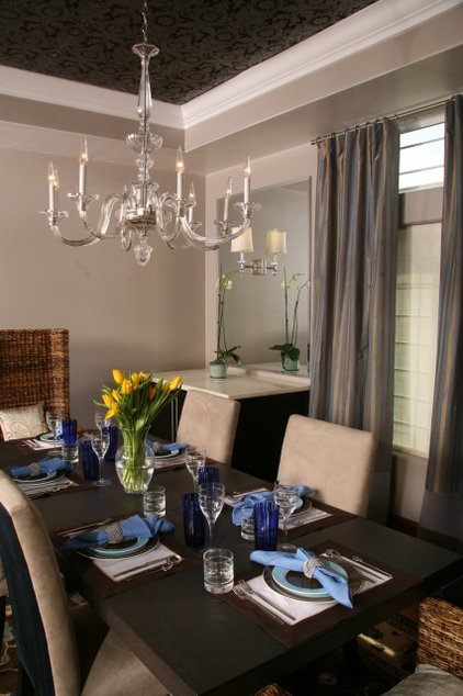 Contemporary Dining Room by HERMOGENO DESIGNS