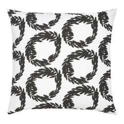 "Rive Cotton Pillow - Modern and classic - the hallmark of the CocoCozy style.  This 100% cotton decorative pillow is sure to make a statement in any room. Each 20"" x 20"" pillow is custom made and manufactured in the United States with an invisible zipper and a knife edge finish.  Dry clean only."