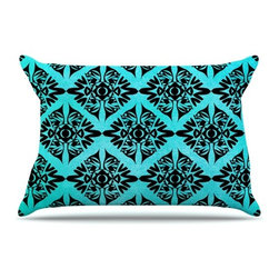 """Kess InHouse - Pom Graphic Design """"Eye Symmetry Pattern"""" Pillow Case, Standard (30"""" x 20"""") - This pillowcase, is just as bunny soft as the Kess InHouse duvet. It's made of microfiber velvety fleece. This machine washable fleece pillow case is the perfect accent to any duvet. Be your Bed's Curator."""