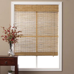 "Arlo Blinds - Tuscan Bamboo Roman Shade 74"" Length - Stylish and elegant,these all natural bamboo Roman shades are the perfect addition to any home decor. The beautiful design of these bamboo shades gives an added touch of warmth and sophistication to any room while allowing natural light to filter in."