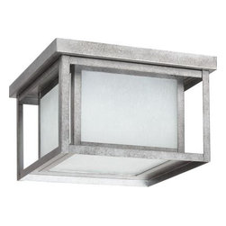 Sea Gull Lighting - Sea Gull Lighting Hunnington Hanging/Ceiling Mount 2-Light Outdoor Weathered Pew - Shop for Lighting & Fans at The Home Depot. The Sea Gull Lighting Hunnington two light outdoor ceiling fixture in weathered pewter is an ENERGY STAR qualified lighting fixture that uses fluorescent bulbs to save you both time and money. A bit of Shaker minimalism mixed with Arts and Crafts styling defines the transitional Hunnington Outdoor Collection. Equally at home in the city or the country, this timeless style will enhance the appearance of a home's entrance and illuminate outdoor spaces nicely. The sleek profile and muted finish options complement a wide range of residential architecture.
