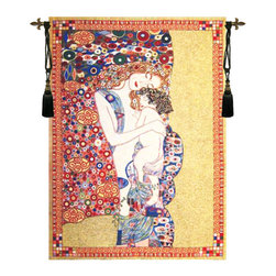 Klimts Mother and Child Tapestry Wall Hanging(H44xW34) - Tapestry Catalog
