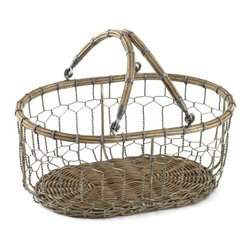 Farmhouse Wire Market Basket - This French wire basket is a great place to keep keys, cell phones and other little knickknacks that I use daily. I would keep it on an end table by the entrance.