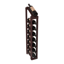 Wine Racks America - 1 Column 8 Row Display Top Kit in Redwood, Walnut Stain - Make your best vintage the focal point of your cellar or store. The slim design is a perfect fit for almost any space. Our wine cellar kits are constructed to industry-leading standards. You'll be satisfied. We guarantee it. Display top wine racks are perfect for commercial or residential environments.