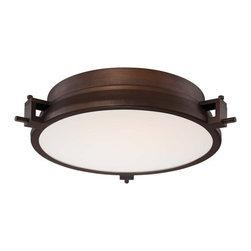 Kovacs - Kovacs P1109-647-L 1 Light LED Flush Mount Ceiling Fixture in Copper Bronze Pati - Single Light LED Flush Mount Ceiling Fixture from the Loupe CollectionFeatures: