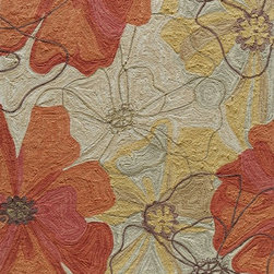 Momeni - Momeni Summit SUM-8 (Sand) 8' x 10' Rug - Inspired by its surroundings, Summit is a casual collection of hand-hooked rugs in bold floral and ethnic patterns. Made of 100% polyester.