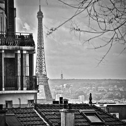 Eiffel In The Distance, Fine Art Photography Print, 12X18 - Taken April 2012, Paris France