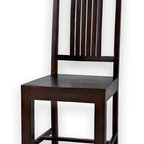 Solid Rosewood Dining Chair, Set of 6 - Handcrafted rosewood chair. Can be sold in sets of 2, 4, 6 OR 8 to match SXFE's 6 or 8 person dining tables. Imported from India.