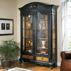 Furniture - Hooker Furniture North Hampton Bonnet Top Curio Cabinet ...