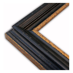 The Frame Guys - Nottingham Black/Gold Picture Frame-Solid Wood-10x10 - *Nottingham Black/Gold Picture Frame-Solid Wood-10x10