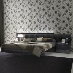 Rossetto - Nightfly Platform Bed in Ebony by Rossetto USA - Features: