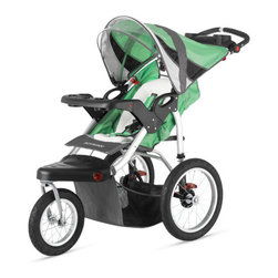 """Schwinn - Turismo Swivel Wheel Jogging Stroller - The Turismo Swivel Wheel Jogging Stroller helps parents stay in shape while spending time with the little. Features: -Single stroller.-Material: Rubber, Aluminum.-Compatible with most flat bottom car seats.-Material frame lightweight for handling.-Molded parent tray has two cup holders.-Dual trigger folding mechanism.-Slip resistant handle grip.-Pivoting molded child tray with two cup holders.-Built in MP3 speaker keeps child entertained.-Assembly required.-Collection: Turismo.-Distressed: No.Dimensions: -Overall Product Weight: 36 lbs.-Overall Height - Top to Bottom: 43.7"""".-Overall Width - Side to Side: 24"""".-Overall Depth - Front to Back: 49"""".Assembly: -Compatible with most flat bottom car seats.-Assembly required."""