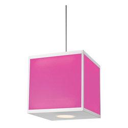 Hart Lighting - Chameleon 32.5W LED Color Changing Cube Pendant - Chameleon 32.5W LED Color Changing Cube Pendant
