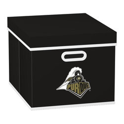 MyOwnersBox - MyOwnersBox Storage & Organizers College STACKITS Purdue University 12 in. x 10 - Shop for Storage & Organization at The Home Depot. The MyOwnersBox 10 in. x 12 in. x 15 in. Purdue University College STACKITS Stackable Black Fabric Storage Cube has an attractive team embroided logo that looks great in your storage area. Made of sturdy non-woven polypropylene and reinforced with composite wood this storage cube has a collapsible design and folds out to form a perfect bankers box size that fits letter and legal sized folders and hanging files. Great for adding team spirit to your office or home office as well as tight spaces in your closet or college dorm room. The storage cube is also ideal for storing clothing or small toys in your children's room or laundry room. The lid is reinforced to allow stacking of 3 or more storage cubes and each comes with two reinforced plastic handles for easy mobility. Color: Black.