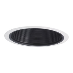 "Nora Lighting - Nora NTM-40 6"" Black Stepped Baffle with Ring, Ntm-40w - 6"" Black Stepped Baffle with Ring"