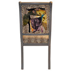 Terai Folding Chair Green Floral Eclectic Dining