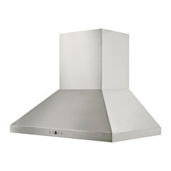 Cavaliere - Cavaliere Range Hood Stainless Steel - Cavaliere Stainless Steel 230W Wall Mounted Range Hood with 6 Speeds, Timer Function, LCD Keypad, Stainless Steel Baffle Filters, and Halogen Lights