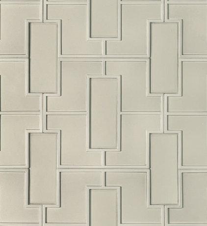 Transitional Tile Fretwork Pattern Decorative Field