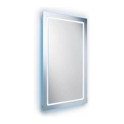 WS Bath Collections - Wall Mount Mirror with LED Lighting - Modern/ contemporary design. LED lighting. 5 years silvering guaranteed. Warranty: 1 year. Made of glass mirror. Glass frame with silver back plating. Made in Italy. 27.6 in. W x 39.4 in. H (45 lbs.). Spec SheetLinea; washbasins, washstands, and bathroom furniture, of various sizes and materials. Pureness of glass, polish of steel, and warmth of wood. Perfection of lines, art, and harmony. Made by Lineabeta of Italy to Highest Industry standards.