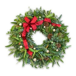 Balsam Hill Designer Ornament Eucalyptus Wreath - BE INSPIRED BY BALSAM HILL'S DESIGNER ORNAMENT EUCALYPTUS WREATH |