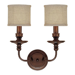 Capital Lighting - Capital Lighting 1232BB-450 Midtown Wall Sconce - Modern Contempo Wall Sconce in Burnished Bronze from the Midtown Collection by Capital Lighting.