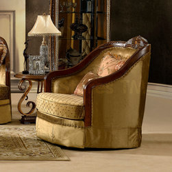 Traditional Light Fabric Chair -