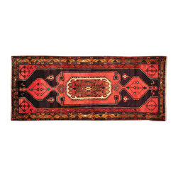 Hand Knotted Persian Hamadan 4'x10' Gallery Size 100% Wool Oriental Rug SH16075 - Hand Knotted Persian Rugs From Iran are know to be the highest quality rugs from around the world.  The weavers from Iran are also known to be the most skilled.  There's many different persian designs and these designs are derived from the city that they're woven in.
