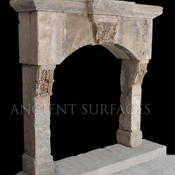 Antique Stone Fireplaces - Ancient Stone Fireplaces by Ancient Surfaces.
