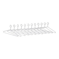 "Safco - Safco Extra Hangers for Shelf Racks (Set of 12) - Safco - Accessories - 4165 - Safco shelf rack additional non-removable steel hangers for use with Safco 48"" shelf rack."