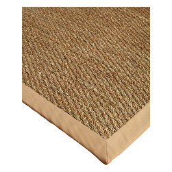 "Natural Area Rugs - ""Maritime"" Seagrass Rug - Sage/Khaki, Handcrafted, Cotton Border, Non-Slip - Free & Same Day Shipping within Continental USA. International Shipping Available (Contact us for a quote). Handcrafted by Artisan rug maker. Made from 100% natural seagrass rugs, cotton border and non-slip latex backing. Our durable seagrass rug is made from 100% seagrass natural fibers for earth-friendly homes. Strong and stain-resistant, colors range from sage green to olive hues. Seagrass rugs help give any room a fresh new look or add texture to a dull room. Variations are part of the natural beauty of natural fiber. Rug pads are recommended and are sold separately."