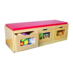 A+ Childsupply Bench Storage Unit - 3 Drawer