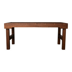 """Boles Studio - Walnut Coffee Table - Solid walnut coffee table with maple details. The pictured table is 32"""" wide x 18"""" deep x 18"""" tall but it can be built to custom dimensions and also from other wood choices."""