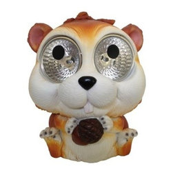 Smart Solar Solar Squirrel Garden Statue - Set of 2 - With their sweet little faces and huge, light-up eyes, the two squirrels in this Smart Solar Solar Squirrel Garden Statue - Set of 2 make a fun and functional addition to your garden. In this set you get two resin squirrels that are artistically painted. Each has an Integral solar panel that charges the Ni-Mh battery during the day. Your squirrels automatically turn on at dusk and off at dawn for up to six hours of light when fully charged. Each includes a rechargeable and replaceable Ni-Mh battery so there are no wires to install. You get to simply set them up and enjoy! About Smart SolarDriven by a strong belief in the environmental benefits of solar power, and the realization that consumers are becoming increasingly environmentally aware with an interest in buying solar-powered products, Smart Solar was created in 2003. Based near Oxford in the U.K., Smart Solar has offices in the U.S. and Germany, and a manufacturing facility in Thailand. Smart Solar offers products including solar pumps, water features, lights, ventilators, chargers, and specialty garden items. With such a wide range of solar-powered products, Smart Solar uses an equally wide range of materials to make them, including terra cotta, ceramic, copper, slate, glass, aluminum, resin, and stainless steel. With an eye for fulfilling future consumer needs, and a heart for preserving the environment, Smart Solar is devoted to developing innovative, high-quality, and dependable solar-powered products.