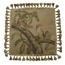 """EuroLux Home - New Aubusson Throw Pillow 20""""x20"""" Squirrels - Product Details"""