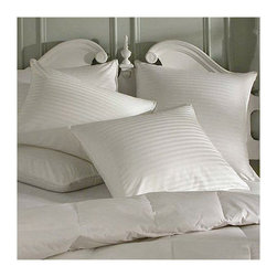 Frontgate - Luxury Pillow Protector - Queen, Sateen (320 thread count) - 100% combed cotton. Double-stitched reinforced seams. Hidden zipper. A Luxury Pillow Protector helps preserve your pillow and adds an extra layer of softness. Our protector also features a high thread count making it smoother, more durable and down-proof, which prevents any fill from escaping.  .  .  . Made in the USA of imported materials.