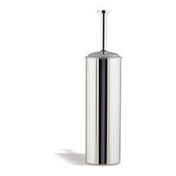 StilHaus - Rounded Brass Toilet Brush Holder - Rounded toilet brush holder made of brass in 2 available finishes. Floor toilet brush holder in brass. Available in 2 finishes. From StilHaus Medea Collection.