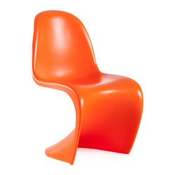 "Zuo - Baby S Chair Sold as Set of 2, Orange - Ready to add that extra ""umph"" to the nursery or playroom?  The Baby S Chair gives that shine to the space and is still highly durable to withstand the kids. This lightweight chair is available in many colors, so choose one or mix and match. Sold as a set of two (package cannot be broken)."