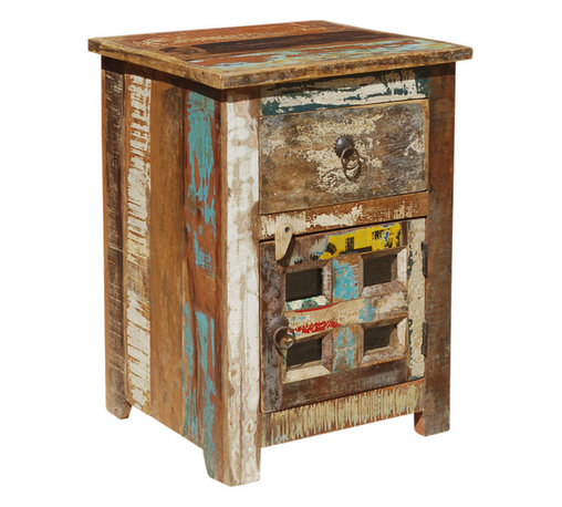 Sierra Living Concepts - Whitney Reclaimed Wood End Table with Drawer - If you love comfort, quality, and rustic charm, take a look at our Whitney Reclaimed Wood End Table with Drawer. This handcrafted nightstand is built with solid mango wood, an eco-friendly tropical hardwood grown as a sustainable crop.