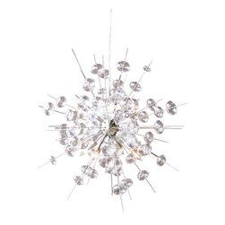 Solaria Lighting - Bubbles Brushed Nickel Chandelier - Finish: Brushed Nickel