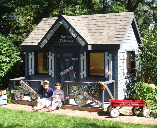 Contemporary Kids Decor by Wish Upon A Playhouse