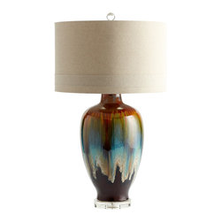Brown and Turquoise Drip Glaze Hayes Table Lamp - *Hayes Table Lamp