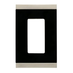 Liberty Hardware - Liberty Hardware 135757 Basic Stripe WP Collection 3.15 Inch Switch Plate - A simple change can make a huge impact on the look and feel of any room. Change out your old wall plates and give any room a brand new feel. Experience the look of a quality Liberty Hardware wall plate. Width - 3.15 Inch, Height - 4.9 Inch, Projection - 0.3 Inch, Finish - Satin Nickel & Black, Weight - 0.2 Lbs.