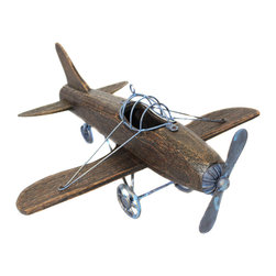 ecWorld - Urban Designs Wooden Model Toy Replica Handcrafted Airplane - Admire the detail of this faithful airplane replica. Handcrafted in wood by unique artisans, this is a gorgeous work of art and a tribute to aviation history. Will make a stunning addition to any room decor.