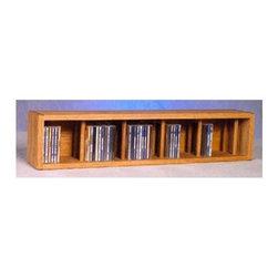 Wood Shed - 7.25 in. Desktop CD Storage (Honey Oak) - Finish: Honey OakOne shelf. Capacity: 67 CD's. Made from solid oak. Honey oak finish. 7.25 in. W x 6.5 in. D x 34 in. H