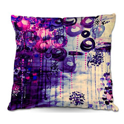 DiaNoche Designs - Pillow Woven Poplin by Julia Di Sano - Atomic Purple Dreams - Toss this decorative pillow on any bed, sofa or chair, and add personality to your chic and stylish decor. Lay your head against your new art and relax! Made of woven Poly-Poplin.  Includes a cushy supportive pillow insert, zipped inside. Dye Sublimation printing adheres the ink to the material for long life and durability. Double Sided Print, Machine Washable, Product may vary slightly from image.