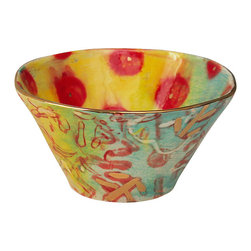 Happy Clay - Handmade Ceramic Soup/Cereal Bowls in Tahitian Gypsy - The Primitive Opulent