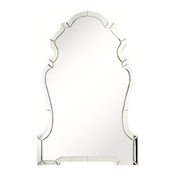 Scroll Mirror - The likes of it may grace a hide-away home in the Hollywood Hills or a chateau in the south of France; such is the versatility of the glamorous Scroll Mirror. With its gleaming frame and gentle curvature, the mirror is one part home furnishing, one part artwork. Generously scaled, the piece lends a dramatic beauty to a great room, bedroom, en suite, or dressing room.