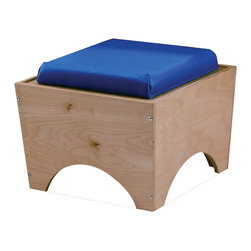 """Whitneybrothers - Whitney Brothers Home Kids Children Comfortable Stackable Seat Ottoman Stool - These comfortable, ottoman-like stools can be nested together for easy storage. 17""""W x14""""H x17"""" D. 15-lbs. Ships RTA. GreenGuard certified. Made in USA. Lifetime Warranty."""
