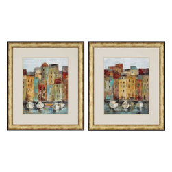 Paragon - Old Town Port PK/2 - Framed Art - Each product is custom made upon order so there might be small variations from the picture displayed. No two pieces are exactly alike.